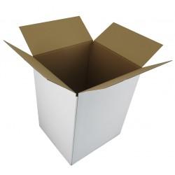 Pudełko klapowe białe  370/335/480