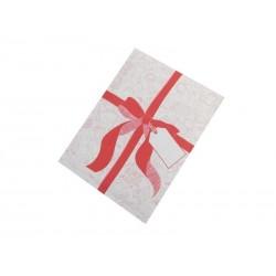 Koperty bąbelkowe z czerwoną wstążką