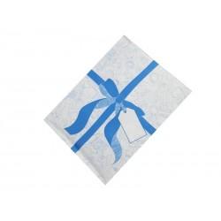 Koperty bąbelkowe z niebieską wstążką
