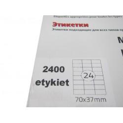 Etykieta samoprzylepna A4 70/37