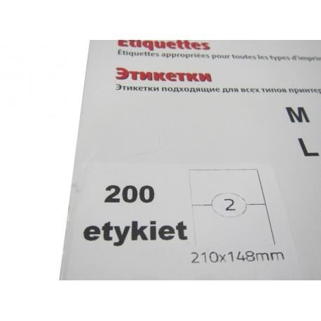 Etykieta samoprzylepna A4 210/148