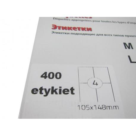 Etykieta samoprzylepna A4 105/148