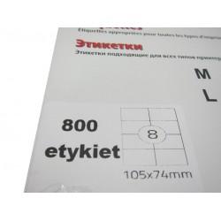 Etykieta samoprzylepna A4 105/74