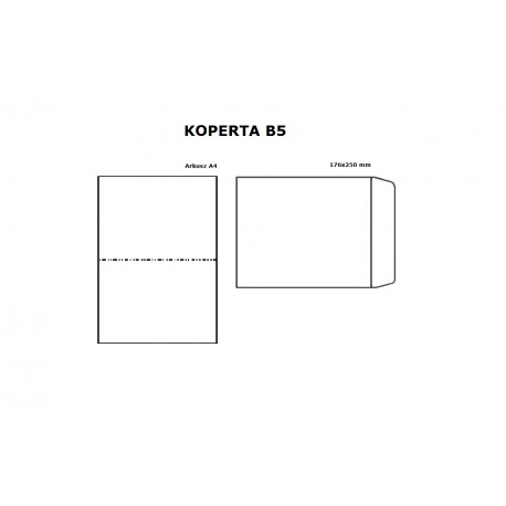 Koperta B5 HK biała - opak. 10szt