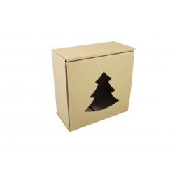 Pudełko fasonowe z wyciętą choinką szare