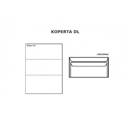 Koperta DL HK biała - opak. 10szt