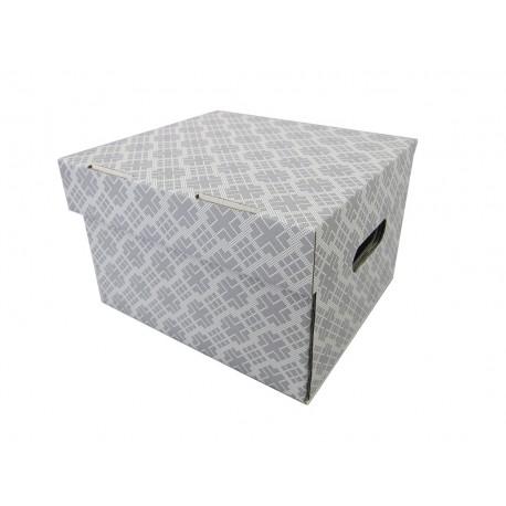 Pudełko ozdobne 270/240/180 Nadruk Szary