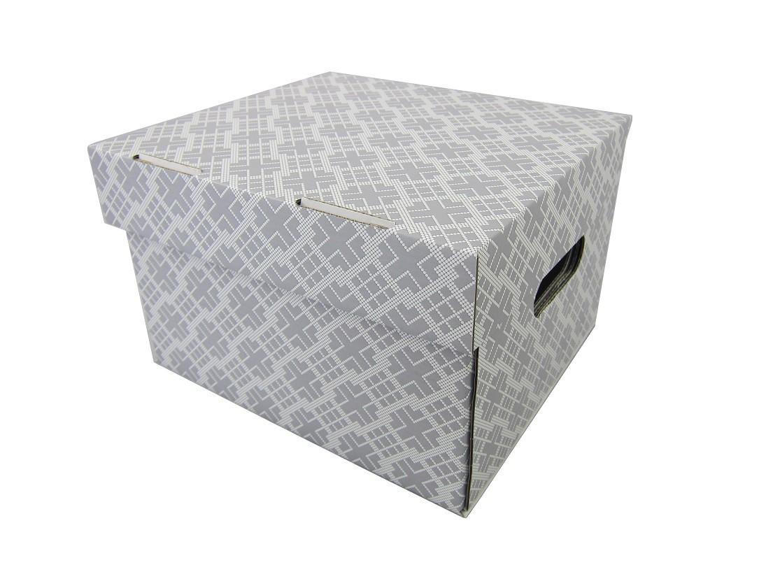 Pudełko Ozdobne 270240180 Nadruk Szary