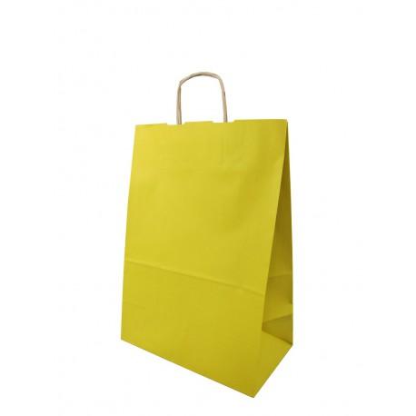Torba papierowa 30/17/44 żółta 90g