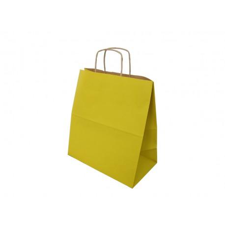 Torba papierowa 30/17/34 żółta 90g