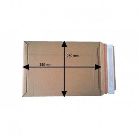 Koperty kartonowe brązowe A4 330/240