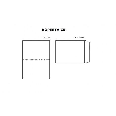 Koperta C5 (162/229) z paskiem HK, brązo