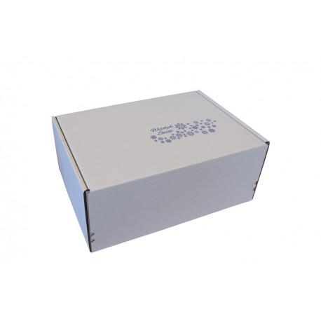 Pudełko fasonowe Z NADRUKIEM ŚWIĄTECZNYM 310/220/130