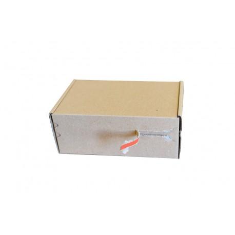 Pudełko fasonowe z paskiem klejowym i tasiemką zrywającą 150/100/60 szare