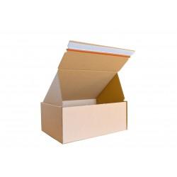 Pudełko fasonowe z paskiem klejowym i tasiemką zrywającą 210/150/70 szare