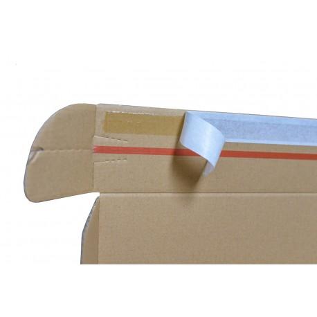 Pudełko fasonowe 370/290/70 z nadrukiem 1 kolor szare